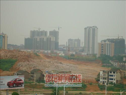佘湖山上鸟瞰新城建设