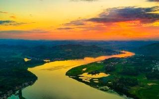 邵阳美点:天子湖国家湿地公园夕照