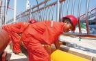 邵阳市燃气总公司桂花大桥项目组织施工人员早出晚归错开高温期