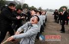 新宁县崀山举行迎新年拔河比赛