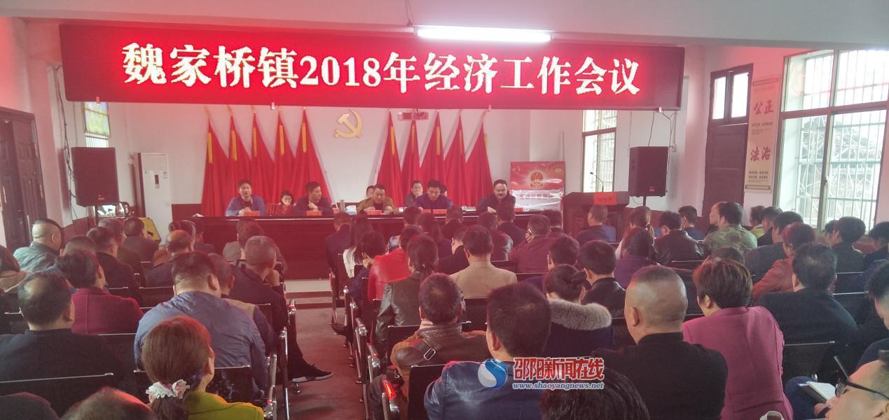 蓄势扬帆  载梦前行 魏家桥镇召开2018年经济工作会议