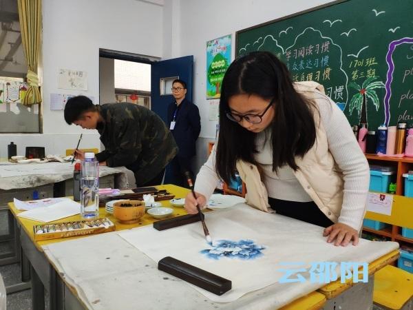 邵阳拍客 | 邵阳市举行中学生现场书画比赛