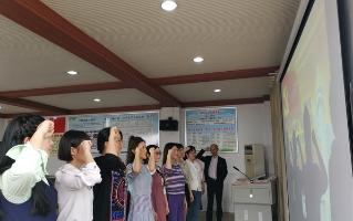 邵东城区二小举行四月主题党日活动