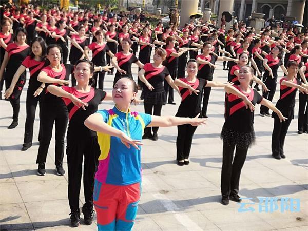 共庆建国70周年丨邵阳市1500名排舞爱好者同跳一支舞