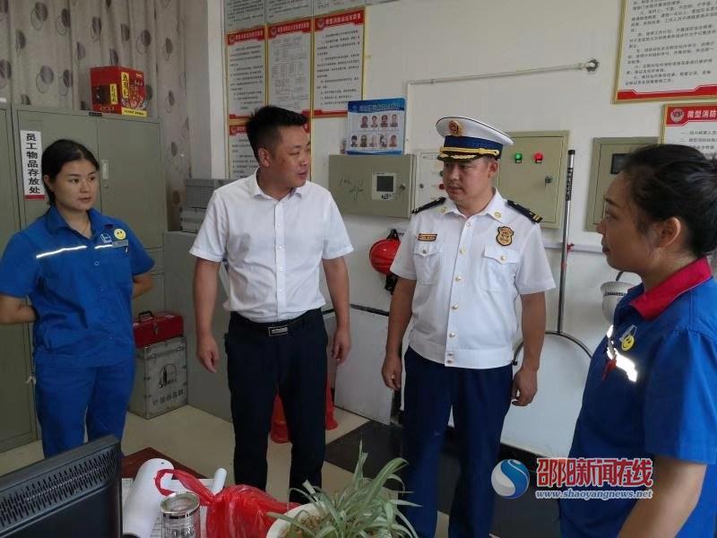 洞口县常务副县长杨云龙督导重大火灾隐患整改工作