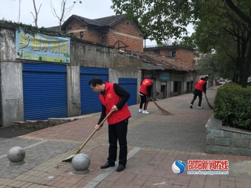 邵阳市交通建设质量安全监督管理处志愿者 坚持+行动 力挺邵阳创文工作