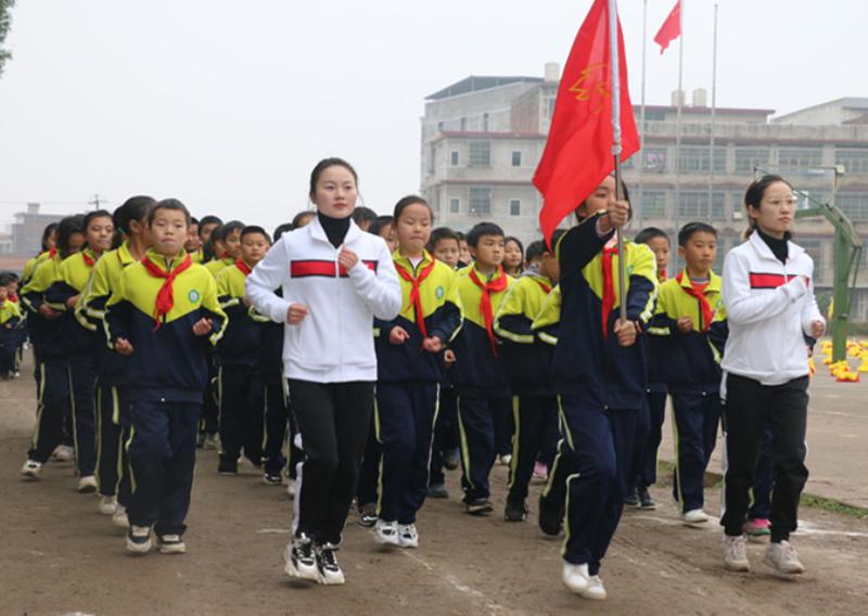 邵东市仙槎桥镇二完小参加阳光大课间展示评比活动